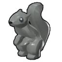 Icon Creature Dark Grey Squirrel
