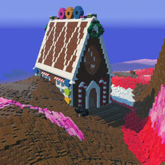 Naturally spawned Gingerbread House.