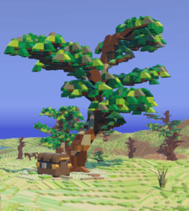 Savanna Tree with Chest