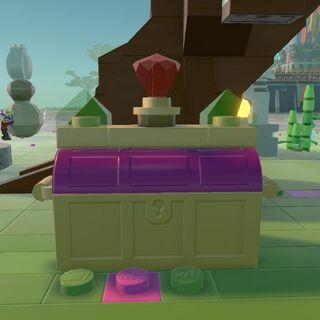 Purple Stud Chest in a Brick Build