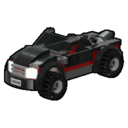 Icon Vehicle Black Sports Car