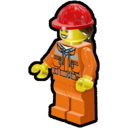 Icon Character Construction Worker