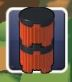 Orange and Black Barrel