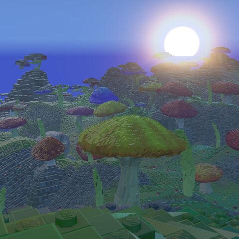 Sunrise over the Mushroom Kingdom