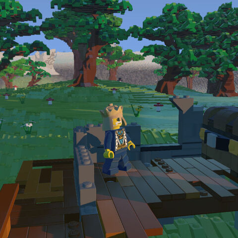 Ruins, where the King has discovered an Item Chest.