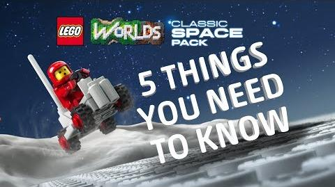 Classic Space Pack - LEGO Worlds - Game Trailer