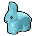 Icon Creature Blue Rabbit