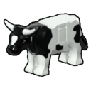 Icon Creature Black and White Bull