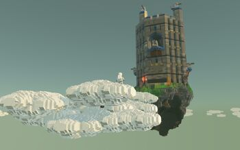 Sky Fortress and Clouds