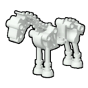 Icon Creature White Skeleton Horse