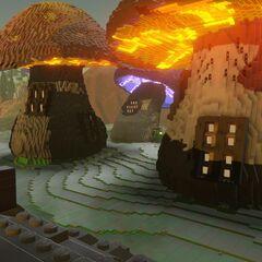 Mushroom Village at Dusk