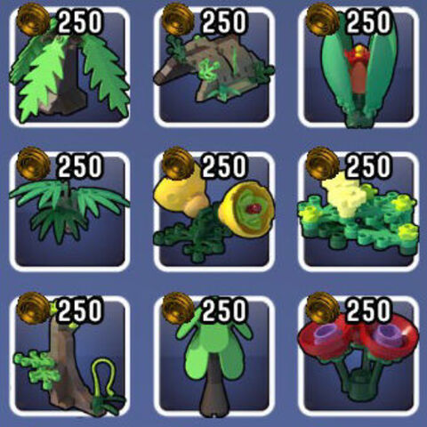 Props found in the Jungle Biome in Update 1.
