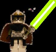 Clone Gunner Commander Jedi (lightsaber effect)