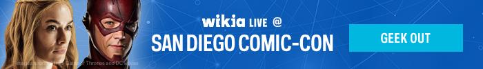 Wikia Live SDCC 2015 Header