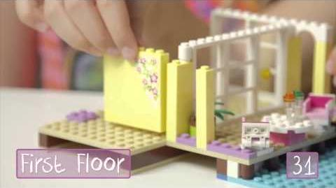 "LEGO Building with Friends - ""How To"" Stephanie's Beach House"
