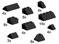 5216-Roof Bricks Assorted, Black