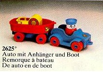 2625 Car with Boat and Trailer