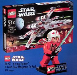 66221-X-Wing Fighter and Luke Pilot Maquette Co-Pack