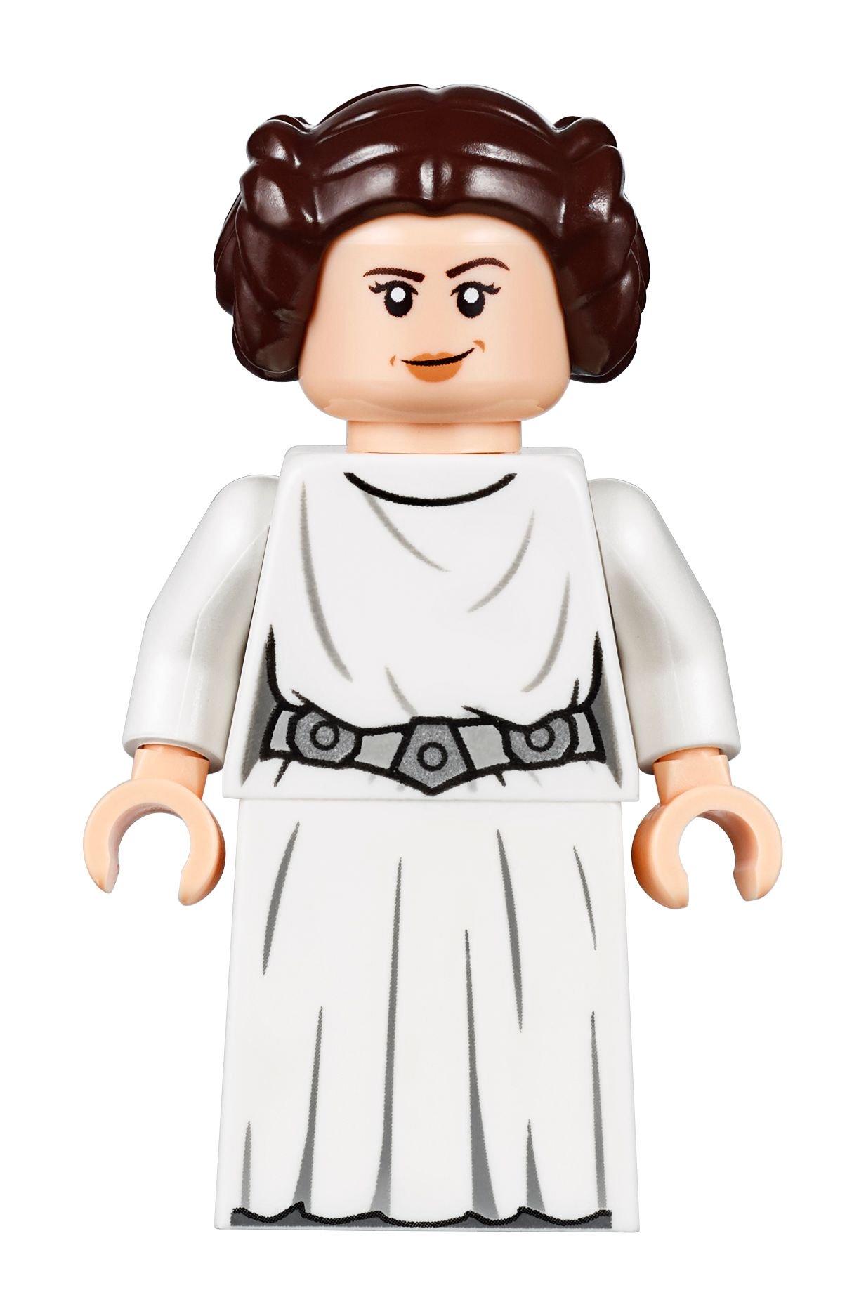 LEGO STAR WARS EWOK LEIA MINIFIGURE DARK BROWN HAIR PART X1 LONG BRAIDED