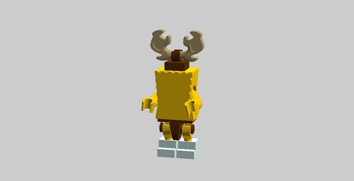 Reindeer SpongeBob With Boots