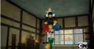 Lloyd holding ninja