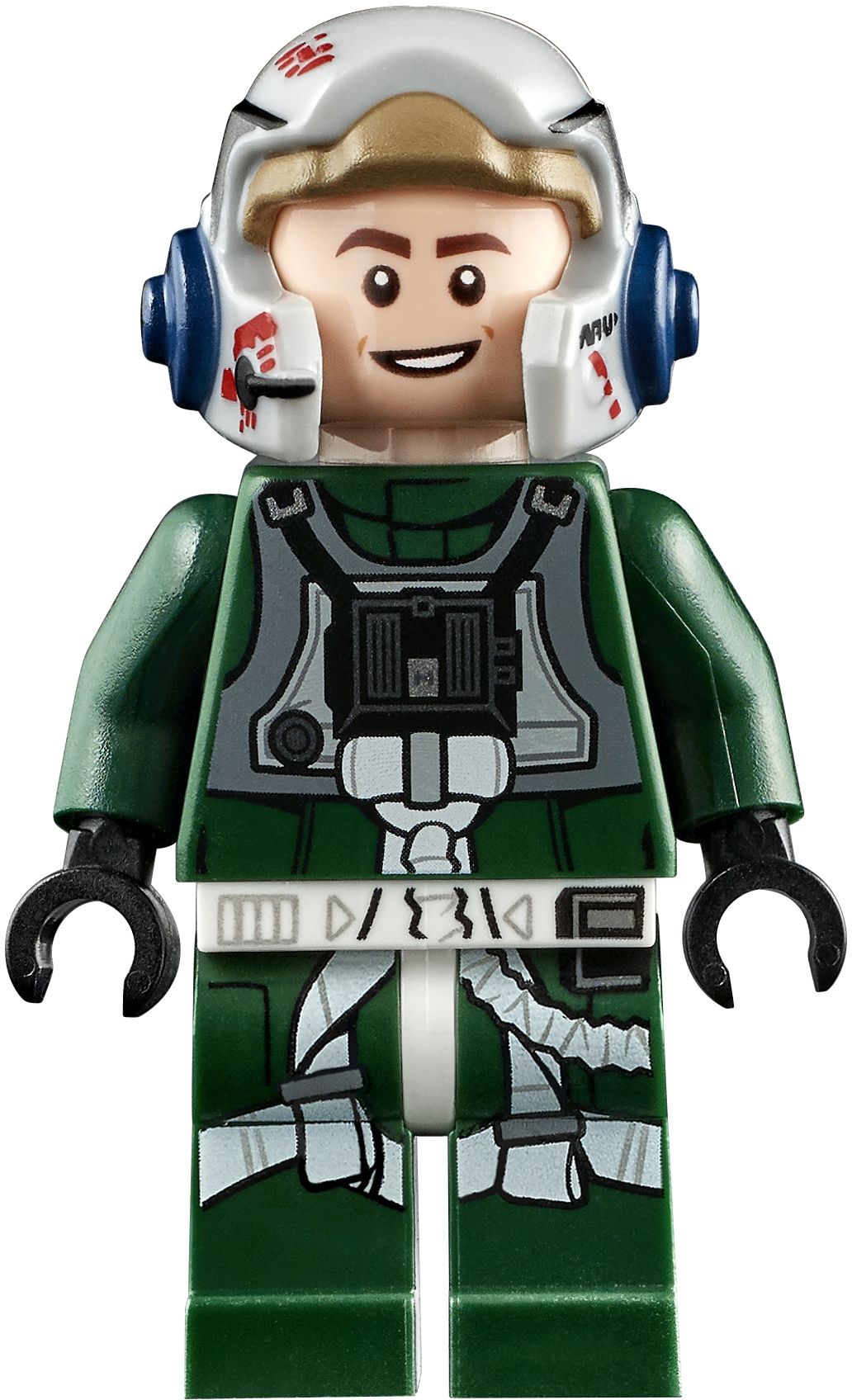 REBEL A-WING PILOT LIGHT FLESH HEAD FIGURE NEW 7754-2009 LEGO STAR WARS