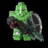Compagnon robot vert