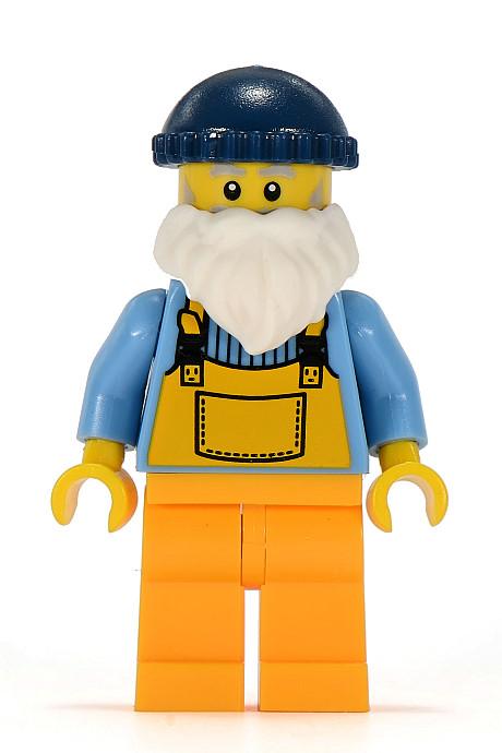 Fisherman w//Fishing pole Lego 2 Black Square Nets 10 X 10 dot Fish