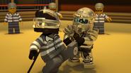 Titanium Zane vs Nindroid Prisoner