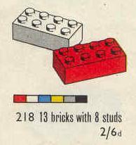 218 2x4 Bricks