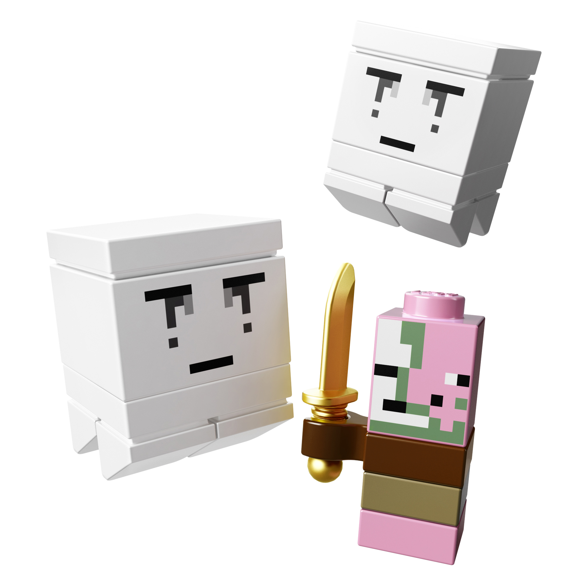 Lego mini figure 1 White Minecraft Ghast 21106 NEW