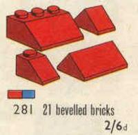 281 1x2 and 3x2 Sloping Bricks