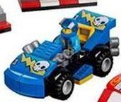 Blue Racecar Driver