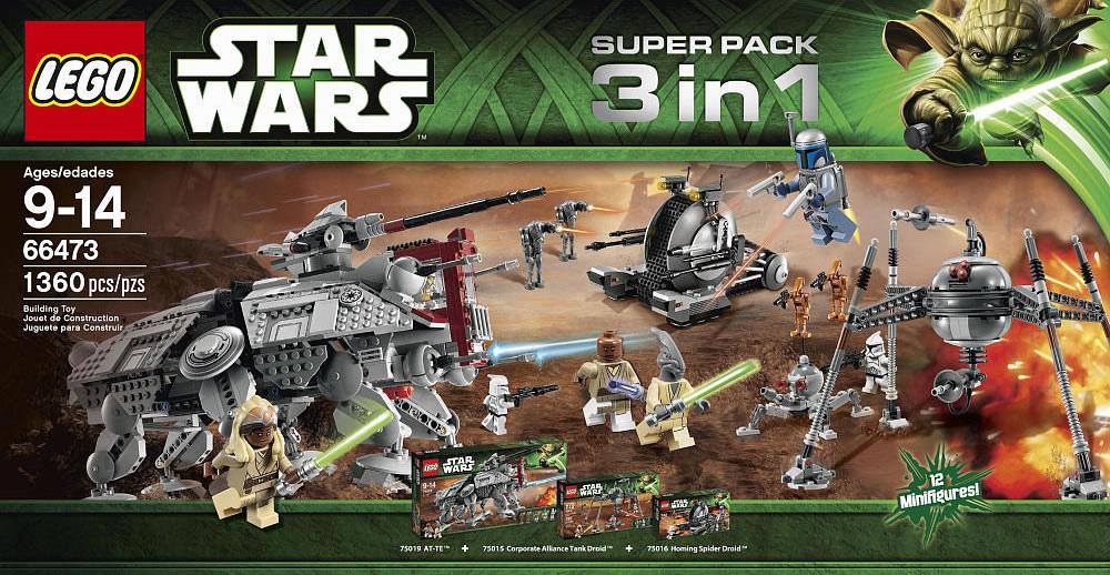 66473 star wars super pack 3 in 1 | brickipedia | fandom powered