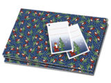 4499563 Gift Wrap Santa Mini-Figure & Tree