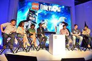 Steven Moffat, Michelle Gomez, Jenna Coleman et Peter Capaldi SDCC 2015