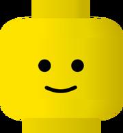 Pitr LEGO smiley -- happy