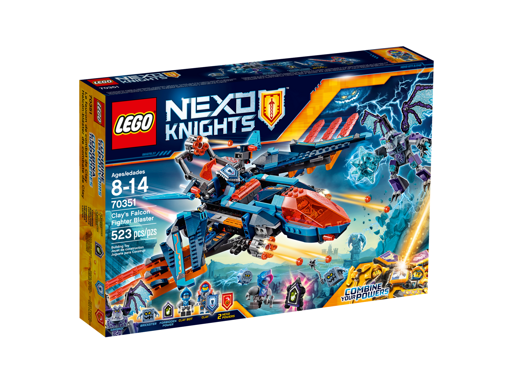 14030 539pcs Nexus Knights Series Clay\\s Falcon Fighter Blaster Lepin Building Block Compatible