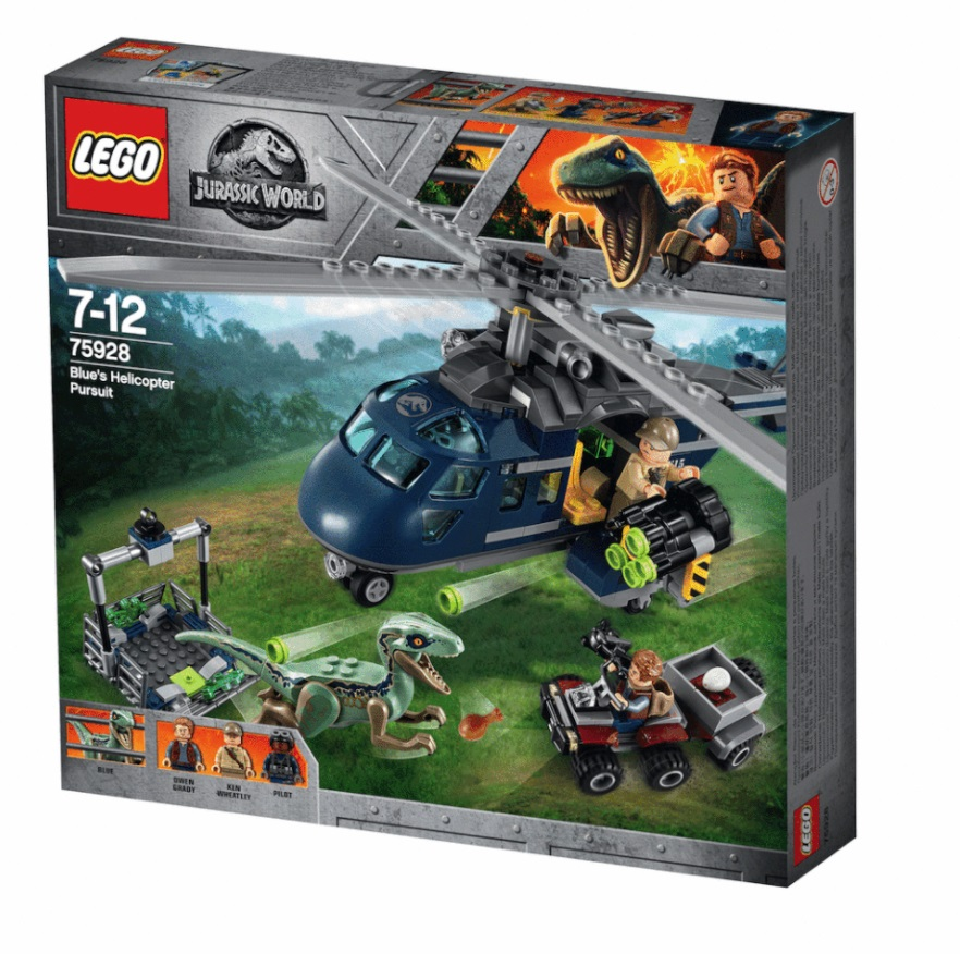 Lego Unveils The Complete Jurassic World Fallen Kingdom: 75928 Blue's Helicopter Pursuit