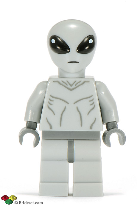 LEGO Head Alien with Evil Robot Silver /& Red Eyes Minifig Black