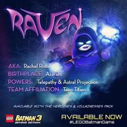 LEGO Batman 3 Heroines & Villainesses Pack Raven