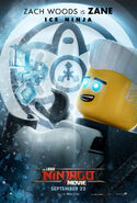 The LEGO Ninjago Movie Poster Zane 2