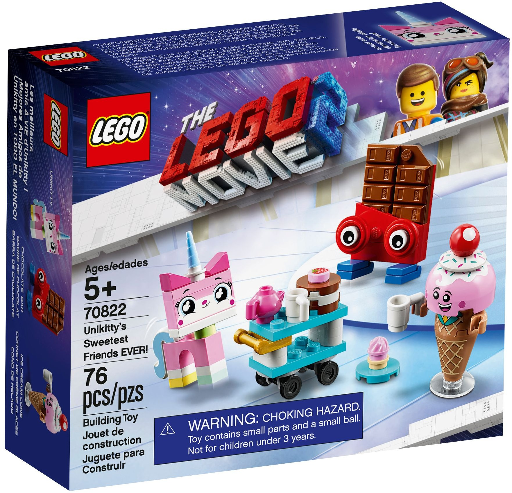 LEGO Ice Cream Cone mini fig New Minifigure 70822 Lego Movie 2 Sweetest Friends