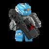 Compagnon robot bleu