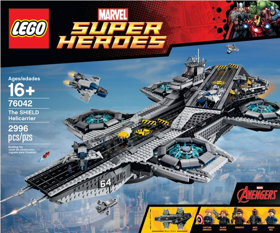LEGO MARVEL SUPER HEROES AVENGERS CAPTAIN AMERICA WITH SHIELD HELICARRIER 76042