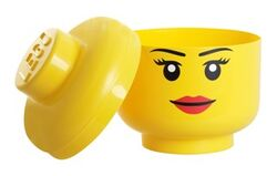 40311222-Minifig Head Storage Container Small - Female