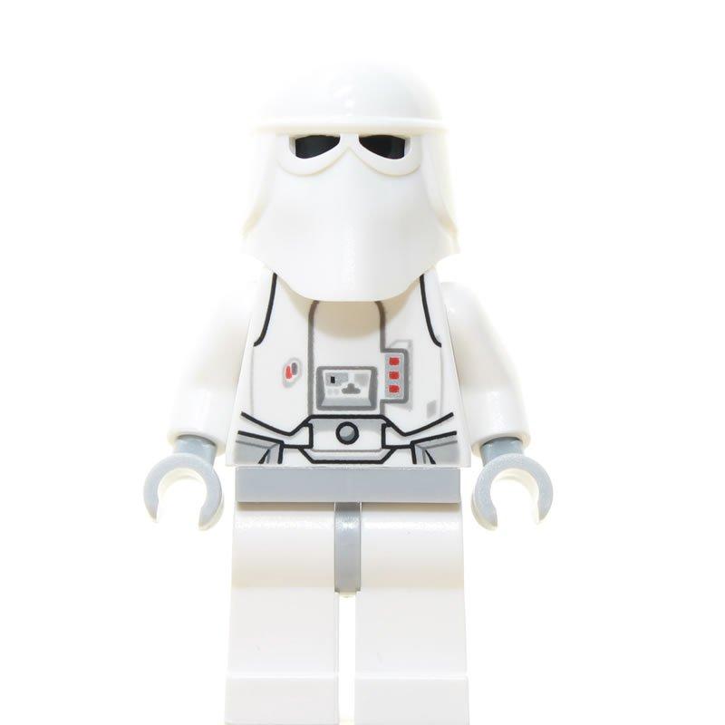 Minifig Part 4483 Lego Star Wars Minifigure Torso Snowtrooper white hands
