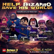LEGO Batman 3 Bizarro World Pack Ligue Bizarro