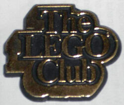 Pin03-The Lego Club UK Badge, Gold Text