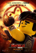 The LEGO Ninjago Movie Poster Cole 2